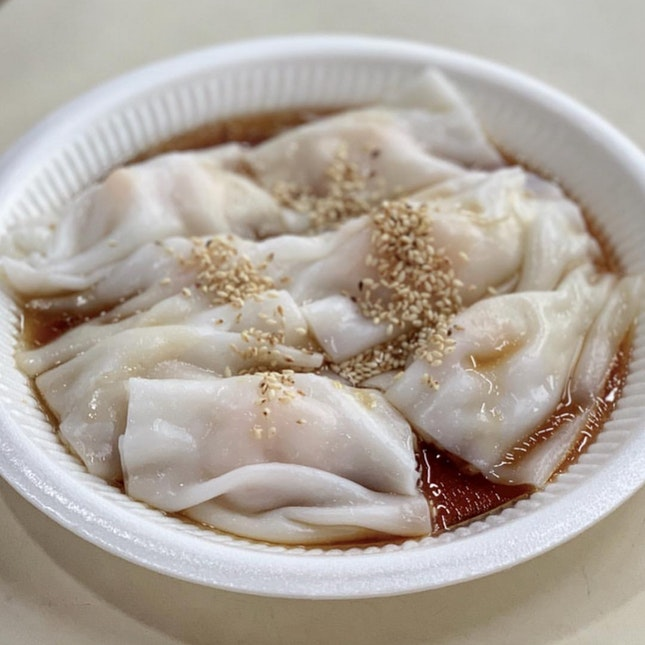 Chee Cheong Fan ($4.50 For Prawn; $3.50 For Char Siew)