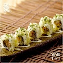 Truffle Kani Roll Fried crabmeat & Shiitake sushi roll with Tanuki & truffle oil