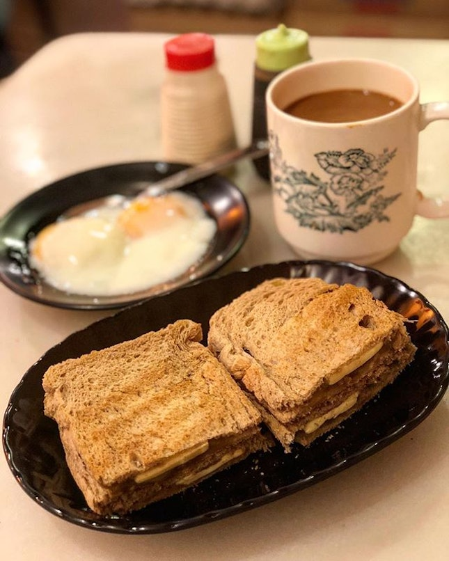 And (Kaya toast) breakfast is served.