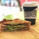 Matcha Coconut Toast & Macadamia Latte