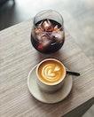 Cold Brew ($4.5) & Piccolo Latte ($4.5)