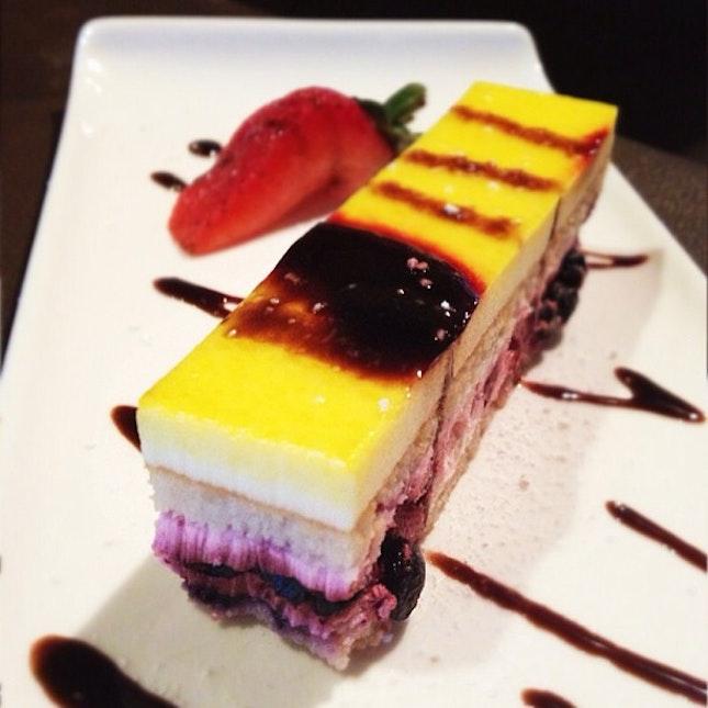 Three berries cake.