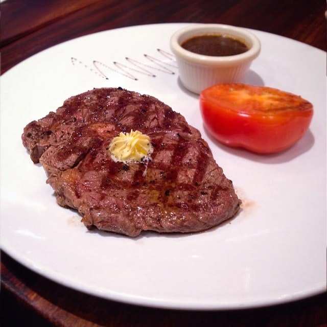 Australia grass fed Sondella Angus beef 200gm ribeye medium.