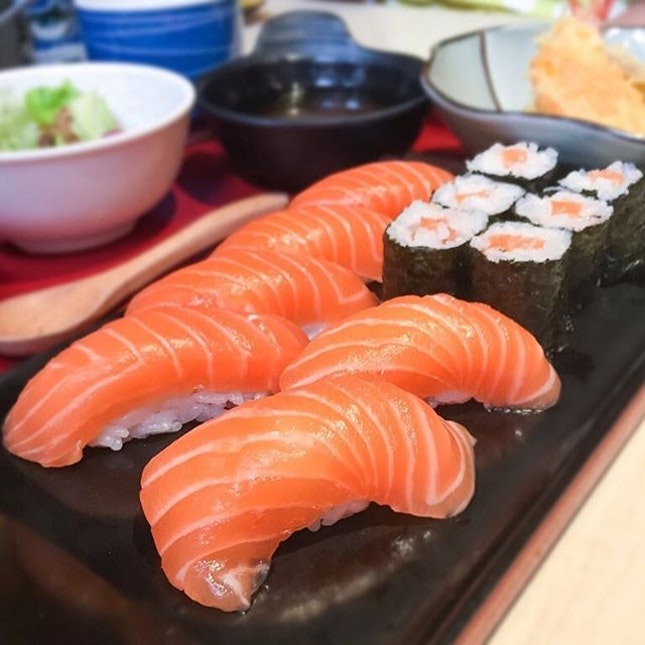 Fresh salmon sushi anyone?