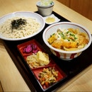 Katsu Don Set ($20) — Small Katsu Don with Seiro Soba (cold)