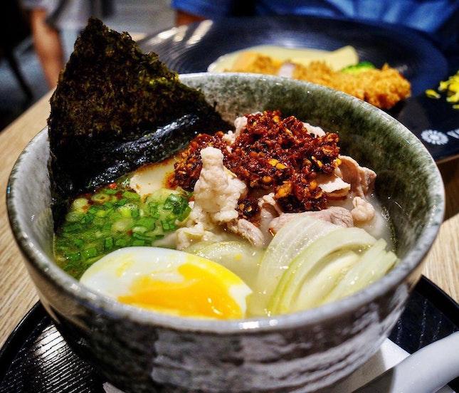 Spicy White Curry Ramen/Udon Set ($16.80+/$13.80+ a la carte)