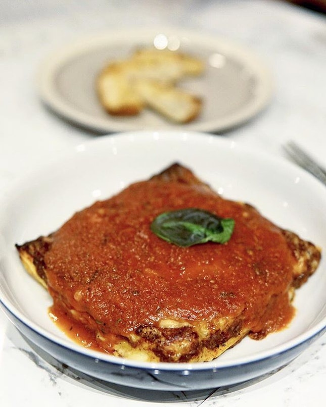 Lasagna  The square block of goodness really satisfy my cravings for Italian food.