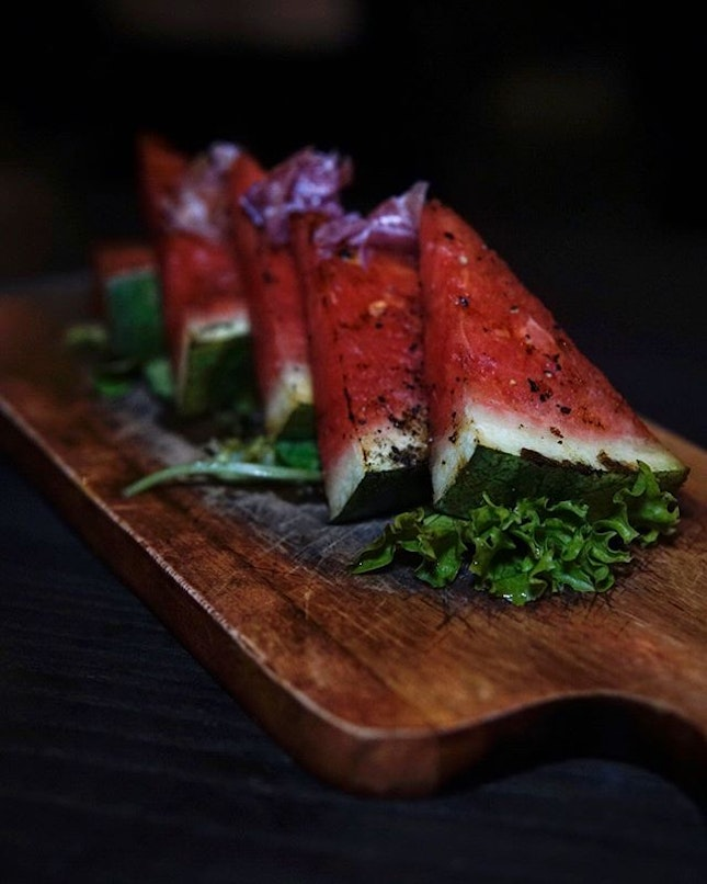 Grilled Water Melon It's not everyday we get to see a dish like this, let alone taste one!