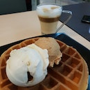 Coconut And Earl Grey Ice Cream On Waffles!
