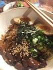 Miso Mushroom noodles lunch set ($16)