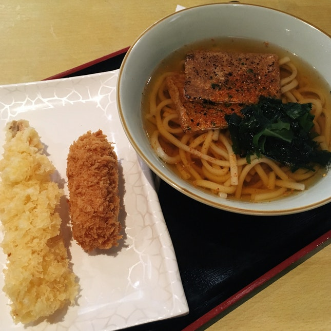 Kitsune Udon + Tempura Sides ($13.30)