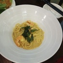 Salted Egg Prawn Pasta