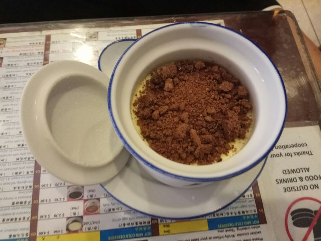 Fresh Milk Steamed Egg With Cookie Crumbles 3.8nett