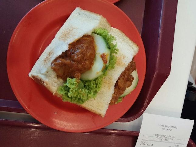 Chicken Rendang Toastwich 4nett