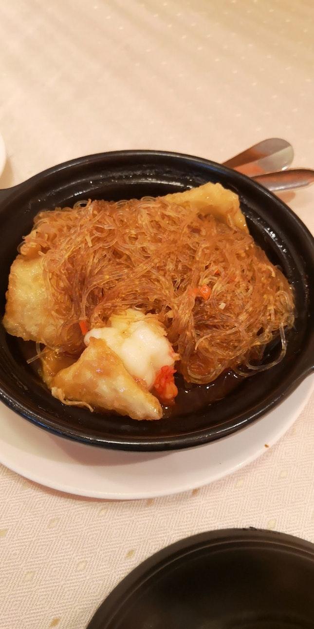 Claypot Prawn, Fish Maw, Vermicelli Braised In XO Sauce 45++