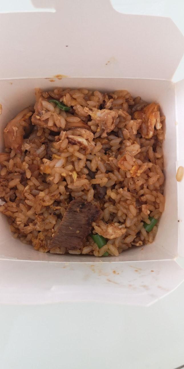 Shangahinese Fried Rice W Beef 8.8nett Add On Grilled Ckn 2nett