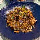 Mala Prawn Spaghetti ($24++)