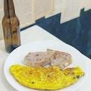 Sunday brunch menu: Walnut toast,  Mushroom Cheese omelette and Josh Carrott on YouTube.