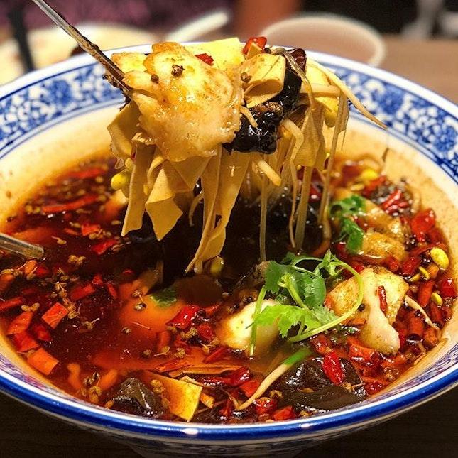 辣得很香 || 麻的很爽  That's how I'd describe this bowl of 麻辣鱼.