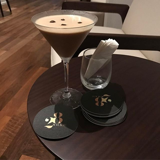 Espresso Martini 🍸as interpreted by jeff of 28wilkie#burpple #28wilkiecocktail#coffeecoctail #28wilkiebarandrestaurant #torcianowinery