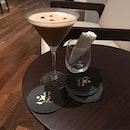 Espresso Martini 🍸as interpreted by jeff of 28wilkie#burpple #28wilkiecocktail#coffeecoctail #28wilkiebarandrestaurant #torcianowinery