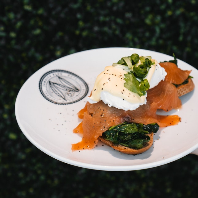 Eggs Florentine With Smoked Salmon (RM24.90)