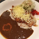 Chicken Katsu Curry With Rice And Cheese.