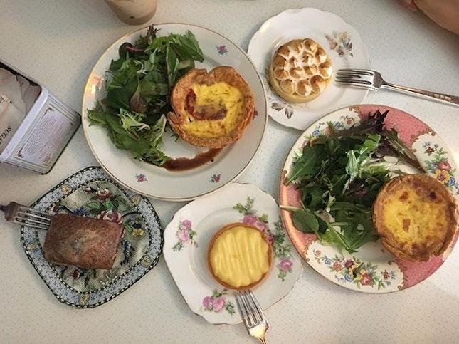 Earl grey lavender loaf S$6.90 Passionfruit meringue tart S$5.50 Lemon cream tart S$5.50 Cook's amazing quiche S$7  An artisan bakery and a vintage store - a quaint little hangout for your Sundates.