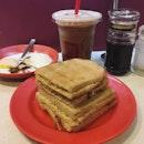 Kaya toast set  Best breakfast.