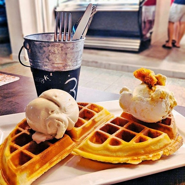 Recent Waffles on Ice Cream Craving...