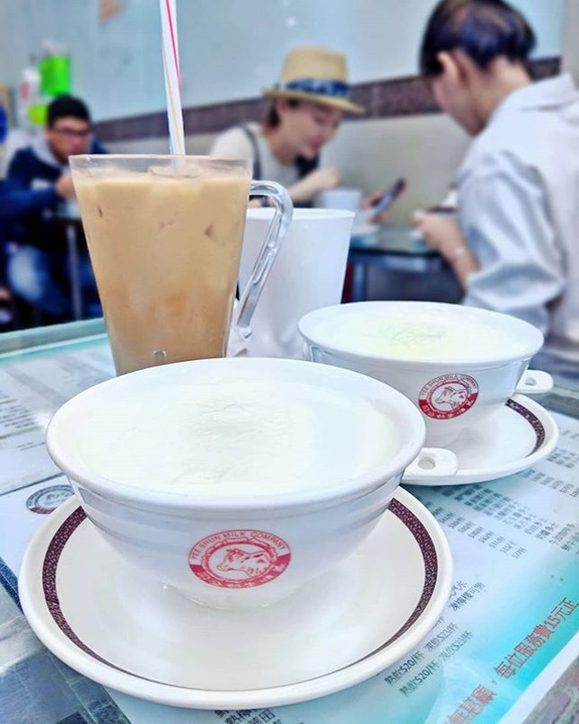 Double-boiled Milk and HK milk tea after my 打小人 activity...