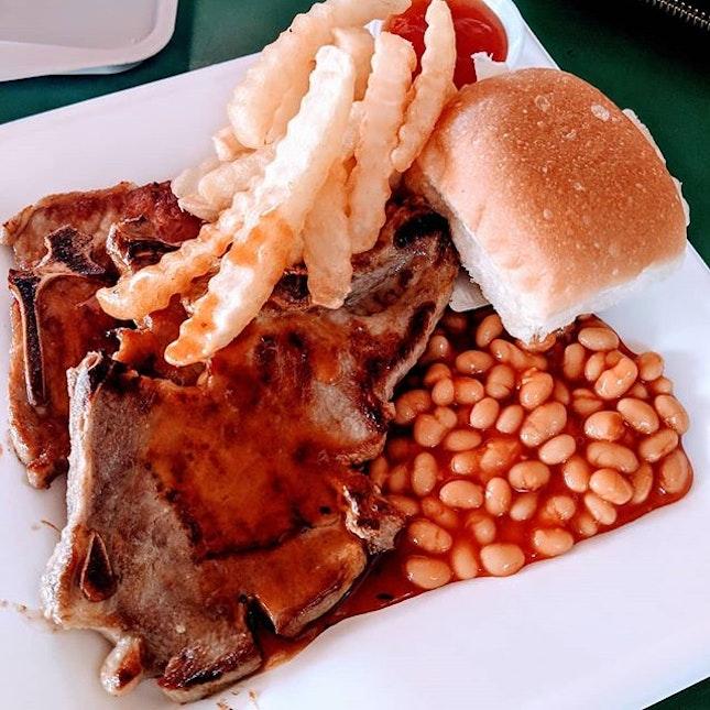Glorious Hawker Pork Chop .