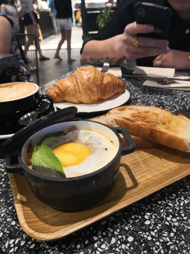 Baked Egg And Croissant