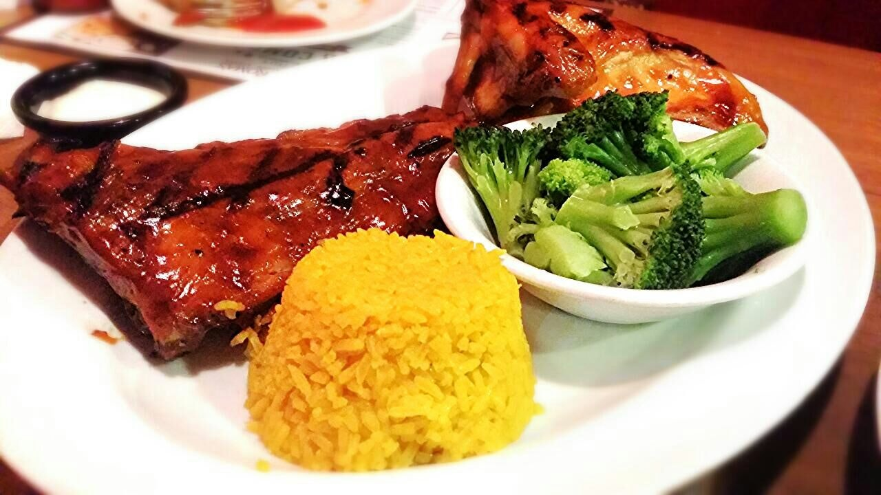 Rib Combo With BBQ Chicken ($34.90++)
