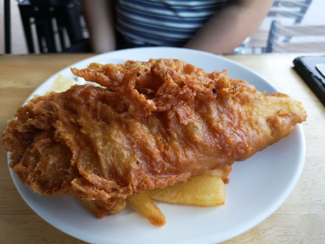 Beer Battered Fish And Chips ($15.90 1 For 1 With #burpplebeyond)