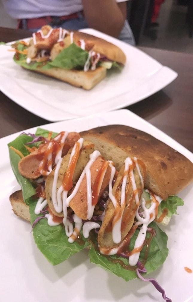 Hawt Dog Sandwich
