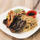 [SG] Steak and prawn with pasta for only $13.90😍 Steak is seasoned well and prawns are nicely cooked with a nice char.