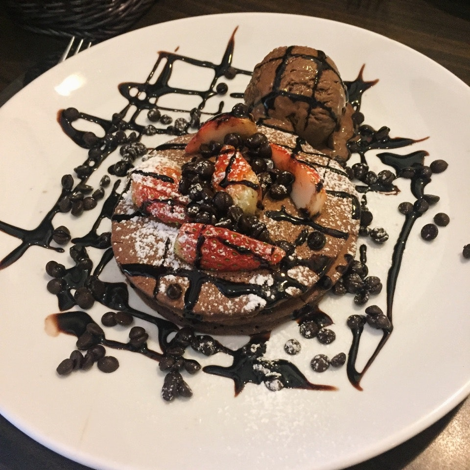 """The Druggie"" Pancakes ($13++)"