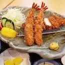 Prawn & Chicken Katsu set Big portion!!!