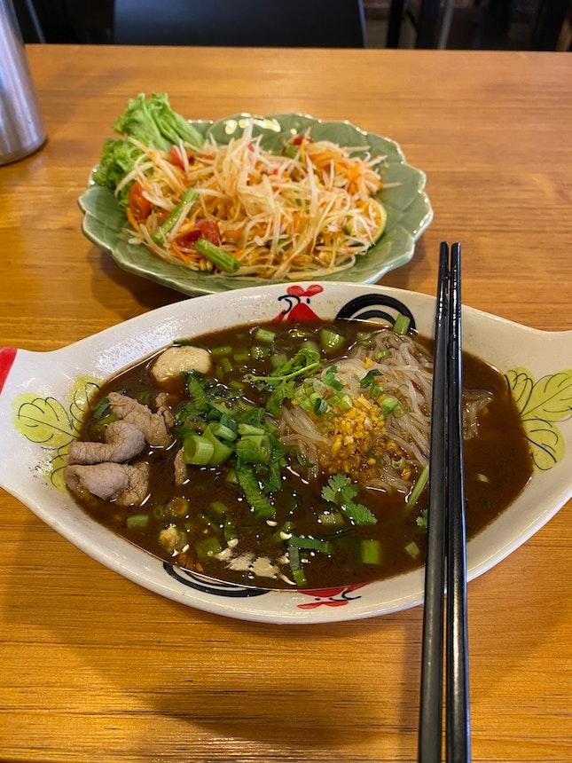 Boat Noodles & Papaya Salad