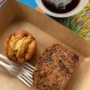 Spelt Almond Financier ($5, Left) & Banana Walnut Date Tea Cake ($5.5)