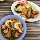 Prawn Mee With Pork Ribs & East Coast Ngoh Hiang