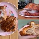 Earl Grey Croissant ($5) & Strawberry Daifuku Croissant ($5)
