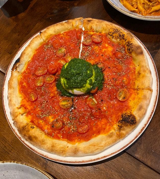 Burrata Pizza ($26)