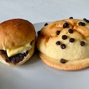 Kid's Red Bean Butter ($2.20) & Chocolate Melon Pan ($2.80)