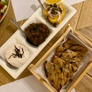 3 Dip Platter - Taramosalata, Fava & Melitzanosalata Agioritiki ($21.90) and Pita Bread ($2.90 for 4 pcs)
