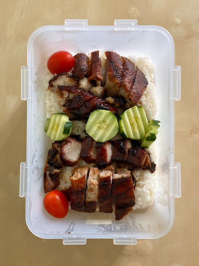 Char Siew + Roast Duck Rice ($7 per portion)