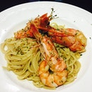 Tiger Prawn With White Wine Sauce