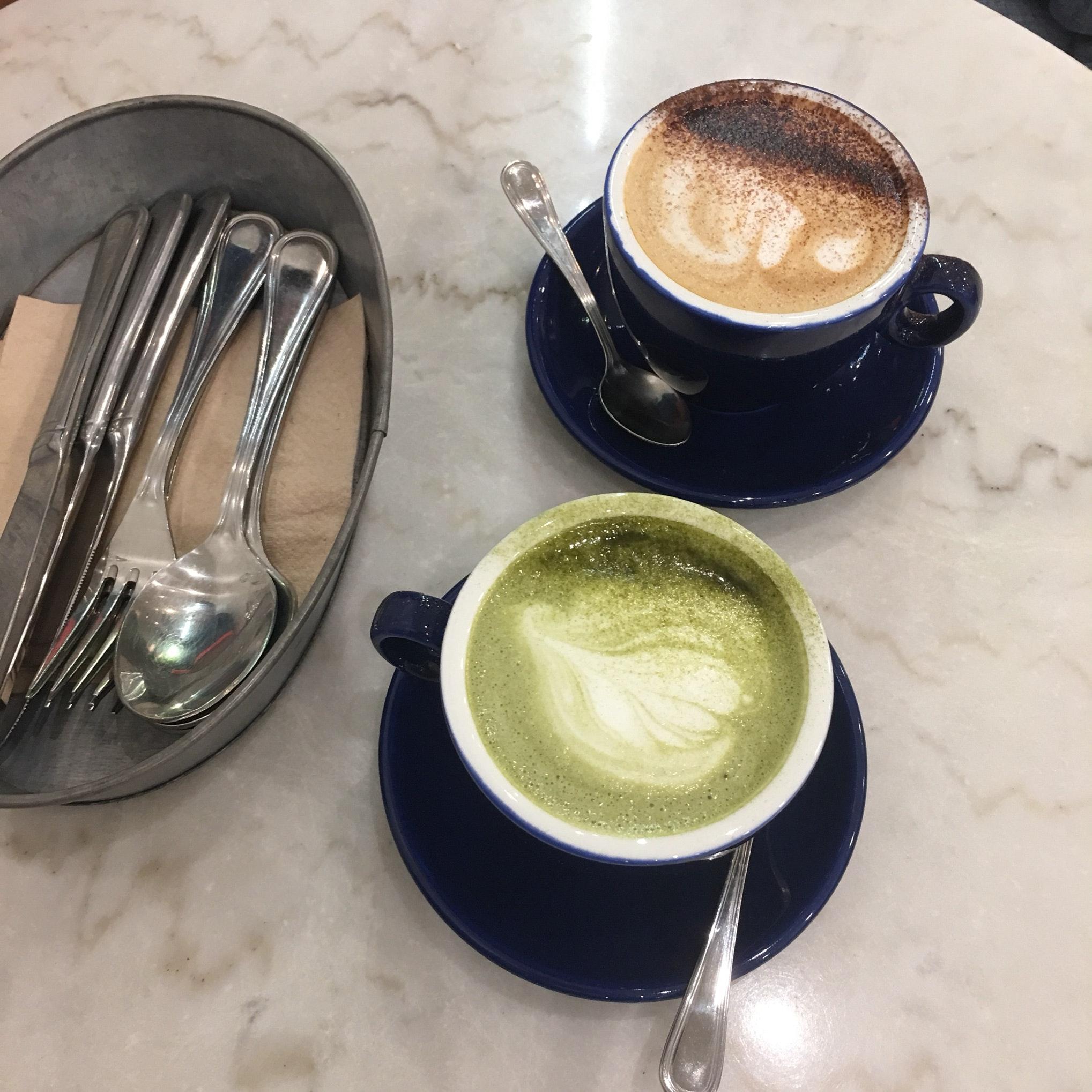 Matcha Green Tea Latte & Cappuccino