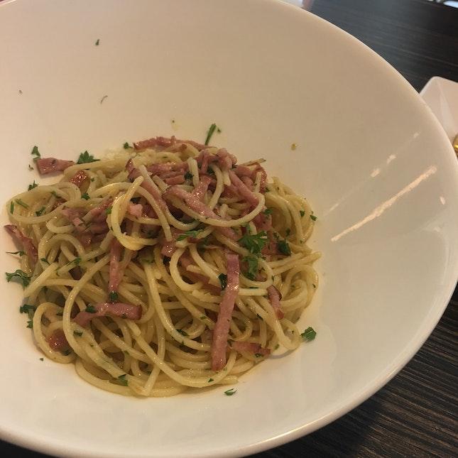 Spaghetti w/ham